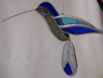3D Hummingbird Ornament - Blue,  Aqua