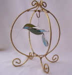 3D Hummingbird Ornament - Green, Aqua