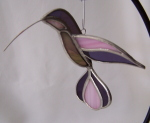 3D Hummingbird Ornament - Purple, Pink