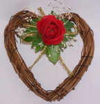 Mini Rose Heart Wreath