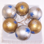 Christmas Ornaments, Hand painted on Mache balls