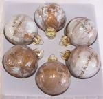 Christmas Ornaments, Gold Swirl with Scripture