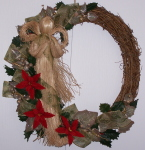 Angel Wreath with pine ribbon