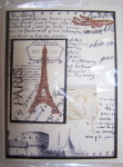Note Card - Individual - Paris - Scapbook Style