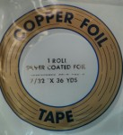 "Copper Foil - 7/32"" - Silver Backed"