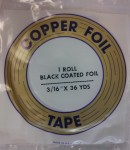 "Copper Foil - 3/16"" - Black Backed"