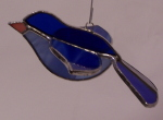 3D Songbird Ornament - 2 Toned Blue