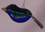 3D Song Bird Ornament  - Blue and Green Tones
